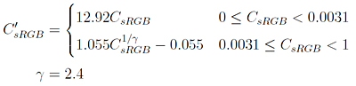 sRGB transfer function